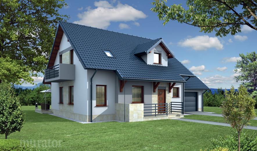 EC110d Dom za rogiem - wariant IV (z wentylacją mechaniczną)