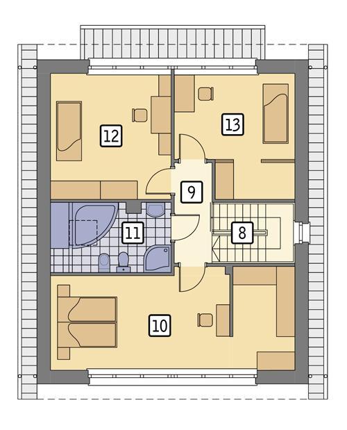 Rzut poddasza POW. 73,7 m²
