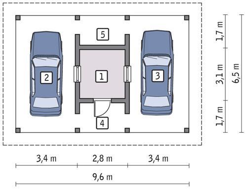 Rzut parteru POW. 6,7 m²