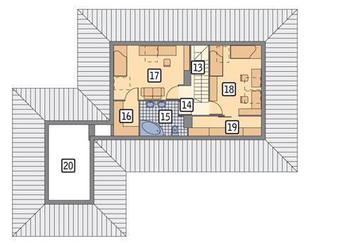 Rzut poddasza POW. 78,4 m²