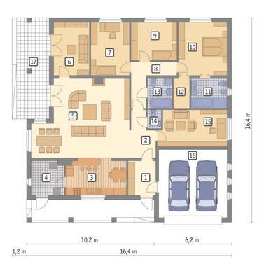 RZUT PARTERU POW. 159,4 m²