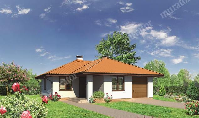 Projekt domu:  Murator M95a   – Róże w ogrodzie -  wariant I