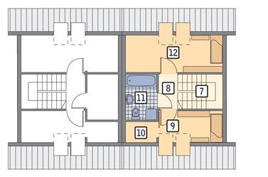 RZUT PODDASZA POW. 25,4 m²
